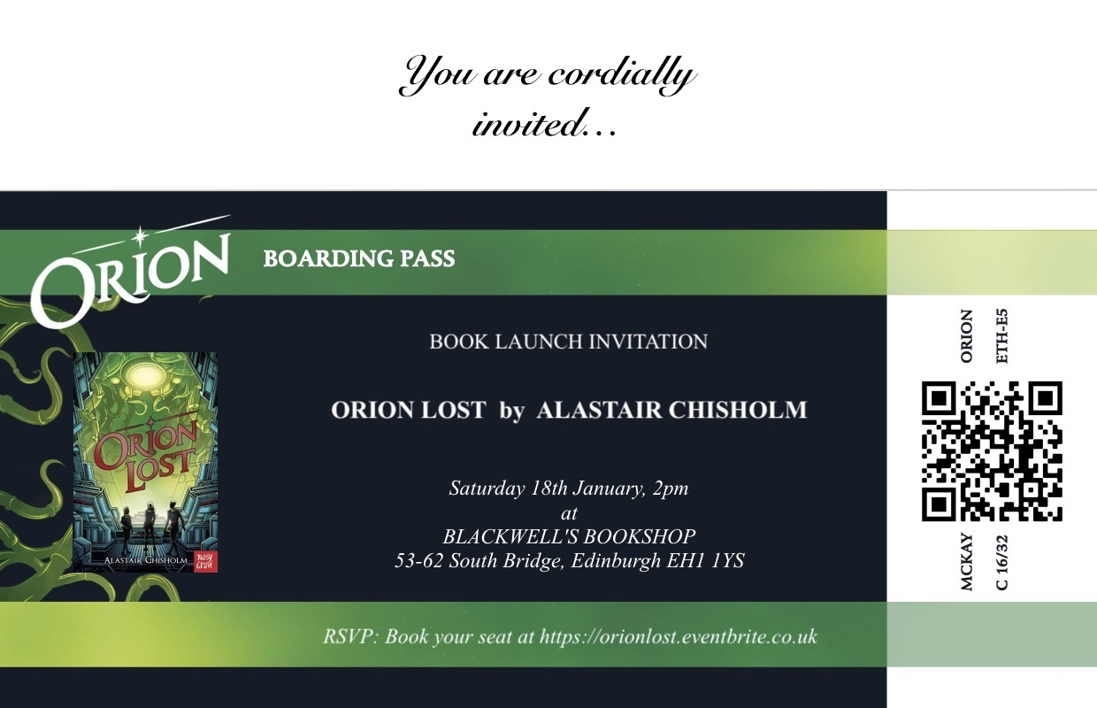 Orion Lost Book Launch!